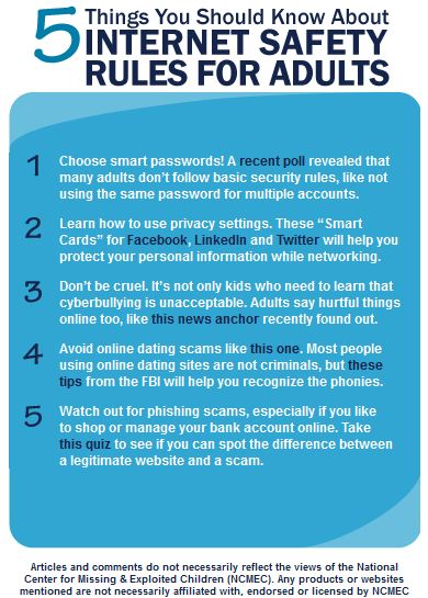 Internet Safety Tips For Adults kids and students safeInternet Safety Tips For Adults